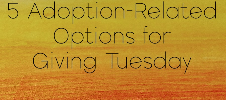 5 adoption-related options for Giving Tuesday