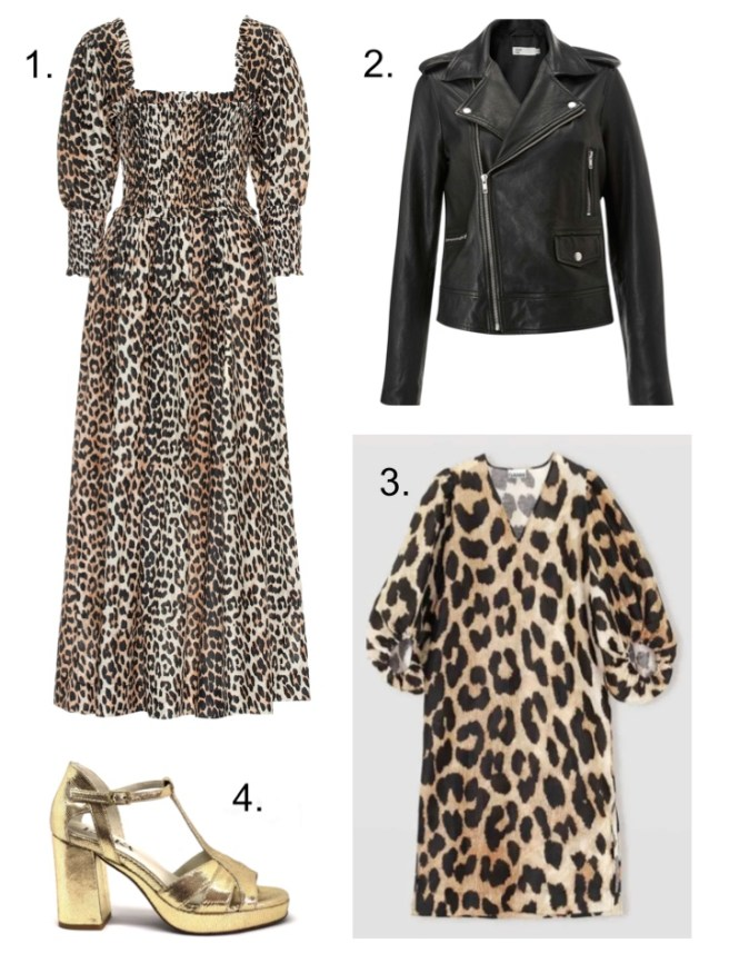 leopard print Ganni dress