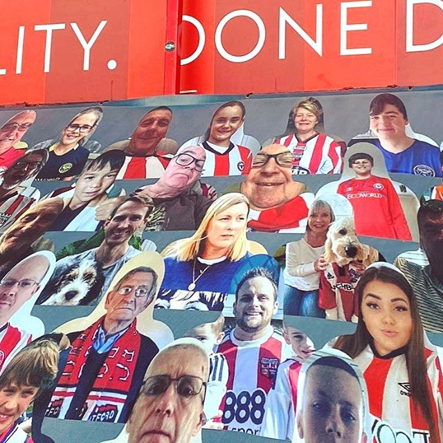 I may not physically be at our beloved Griffin Park for the final @brentfordfc matches of the silent football season,but my presence is still there in the stands