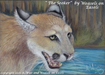 """""""The Seeker"""" in colored pencil"""