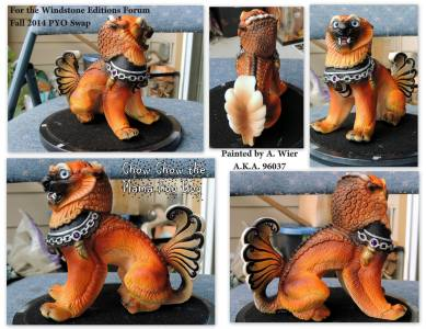 Chow Chow the Male Foo Dog Sculpt Copyright Windstone Editions and M. Pena