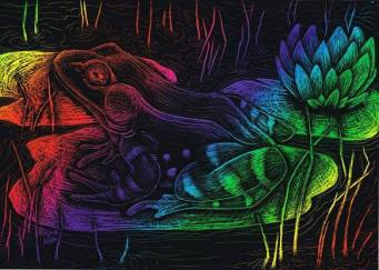 """Rainbow Frog"" Rainbow Scratchpaper"