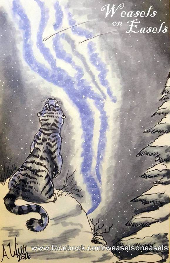 """Winter Star Copic Markers on Strathmore Watercolor Paper 5"""" x 7"""""""