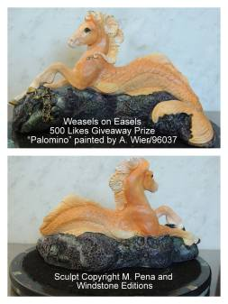 Palamino the Hippocampus Sculpt Copyright Windstone Editions and M. Pena