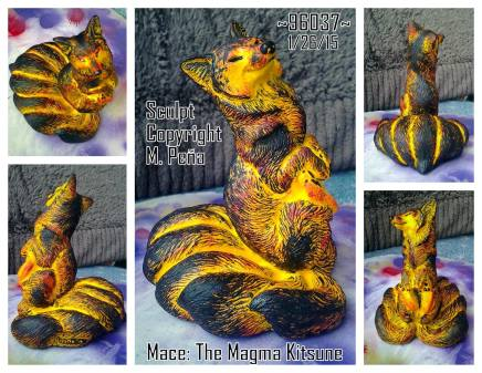 Mace the Magma Kitsune Sculpt Copyright Windstone Editions and M. Pena