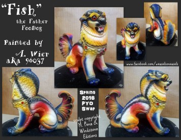Fish the Male Foodog Sculpt Copyright Windstone Editions and M. Pena