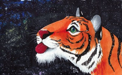 """Mystified Copic Markers on Strathmore Watercolor Paper 5"""" x 7"""""""