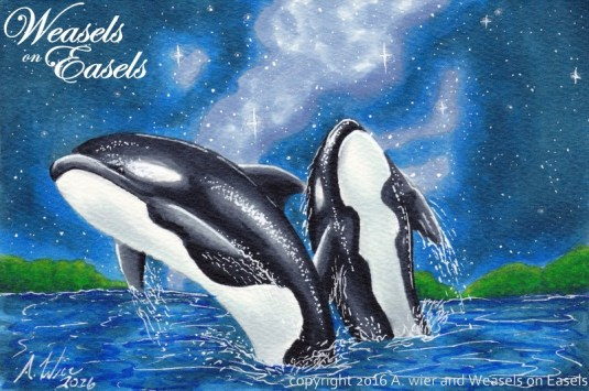 """""""Mother Orca"""" Copic Markers"""