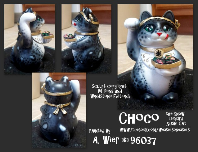 Choco the Female Sushicats Sculpt Copyright Windstone Editions and M. Pena