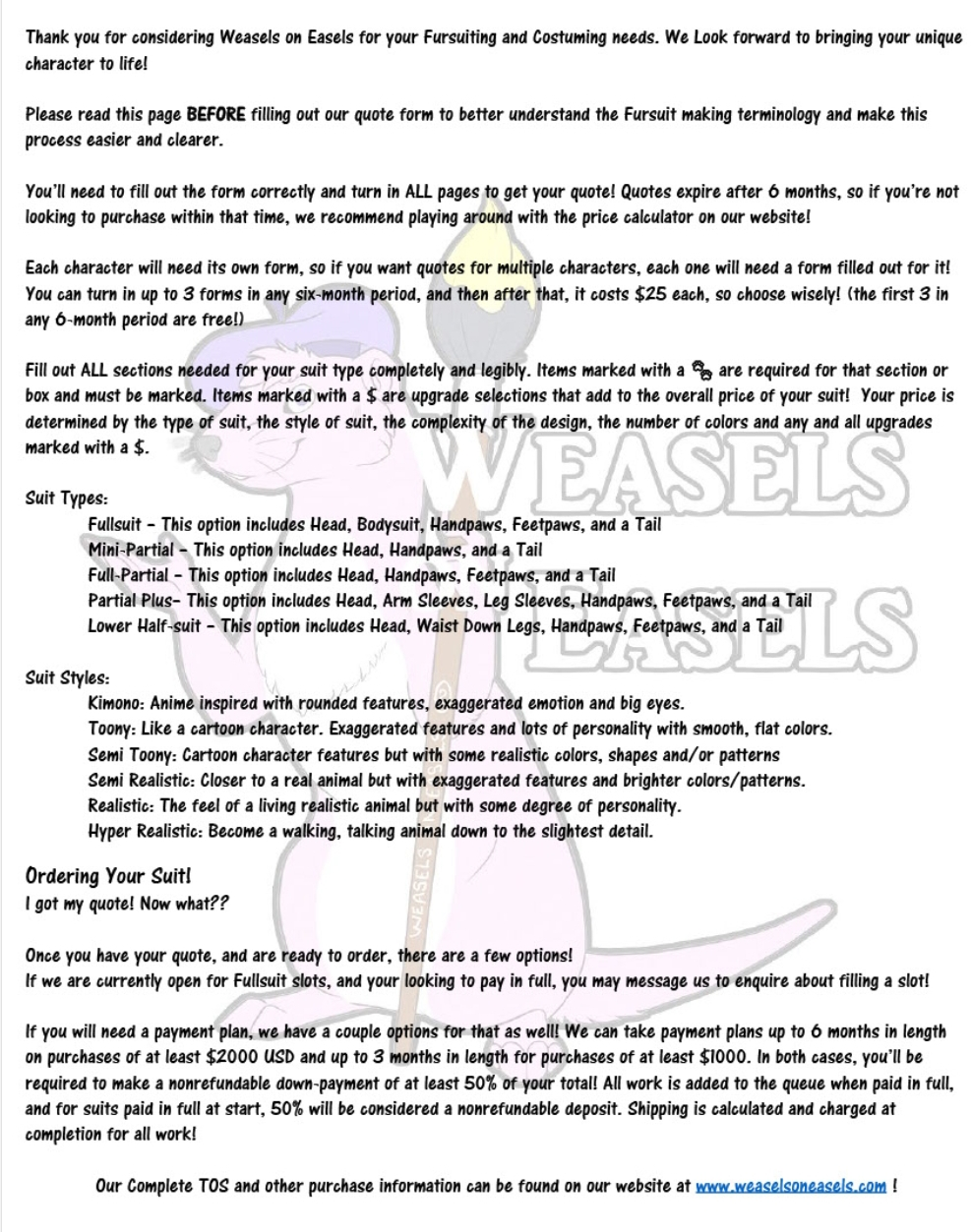 WoE 2019 Quote Form V1.3 Pg 1