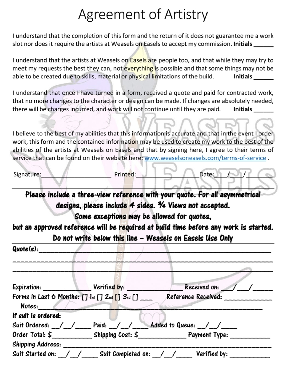 WoE 2019 Quote Form V1.3 Pg 7