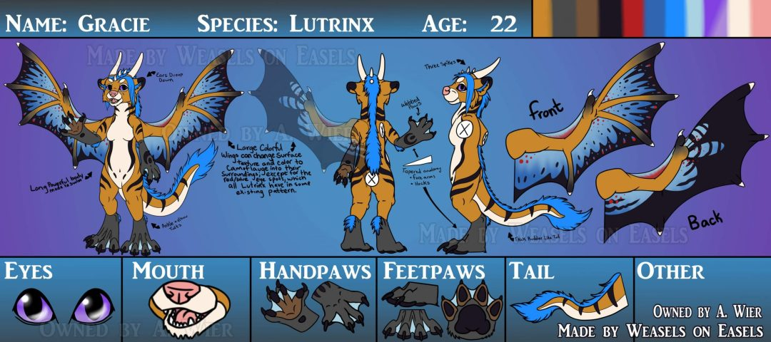 Example of correctly formatted ref sheet