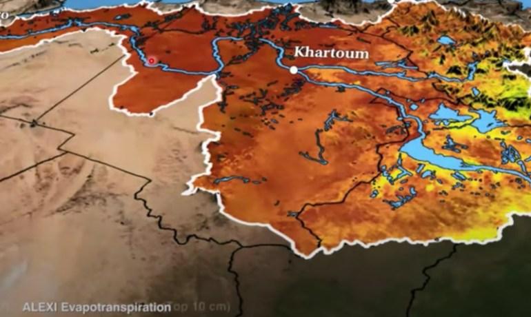 River basin delineation based on NASA digital elevation data