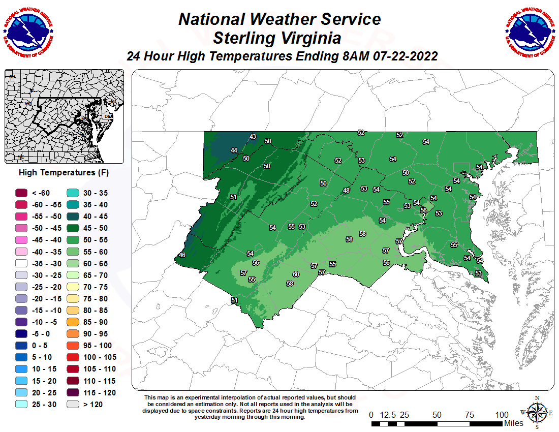 Daily Observed Weather Maps