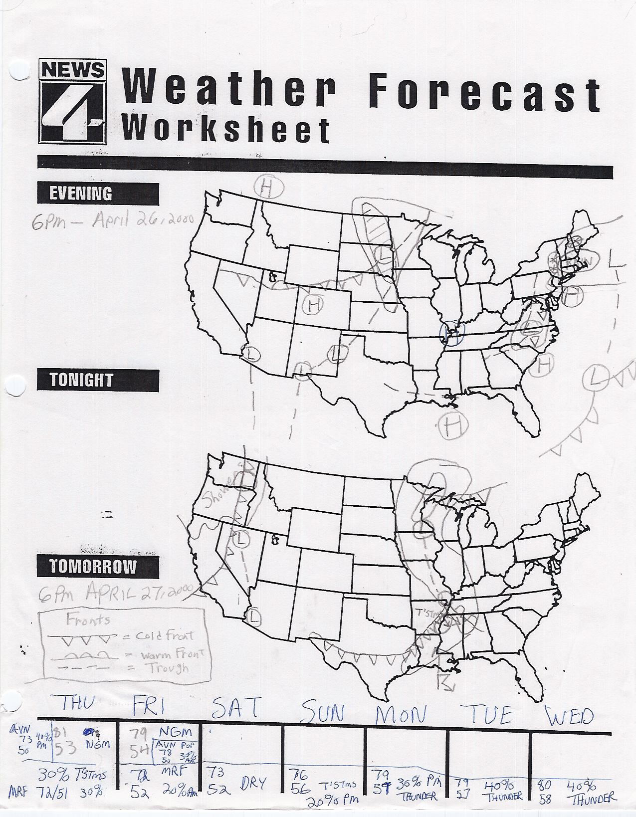 Climate Map Worksheet