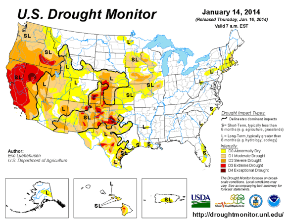 Image Credit: US Drought Monitor