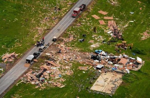 Storm damage in Smithfield, NY  Credit: Syracuse.com