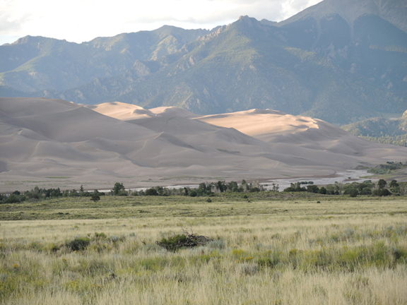 Sand dunes nestled against the foothills of the Sangre de Cristo Mountains, Great Sand Dunes National Park, CO.  Image Credit The Weather Gamut.