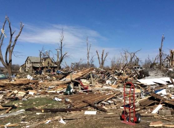 Tornado Damage.  Image Credit: Rockford Fire Dept.