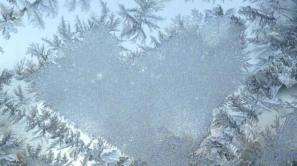 A frosty heart. Credit: Baltimore Sun/AP