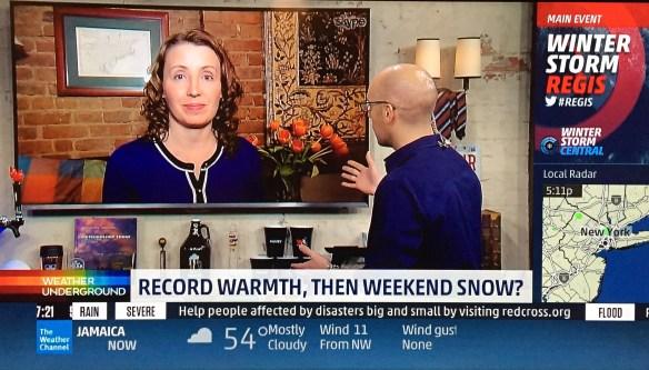 Weather Gamut writer, Melissa Fleming, talks with Mark Elliot on WUTV.