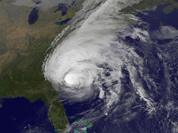 Hurricane Matthew batters the south eastern US. Credit: NOAA/NASA