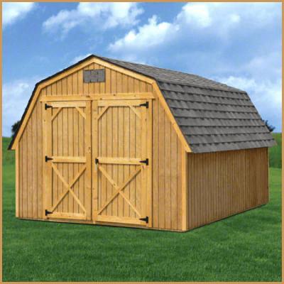 Treated Barn With Shingled Roof