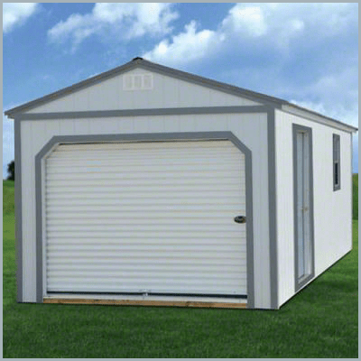 Weatherking Private Storage Painted Portable Garage