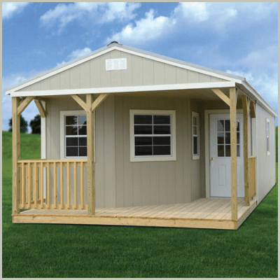 Weatherking Private Storage Painted Deluxe Cabin