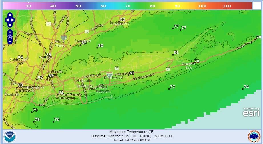 Long Island Beach Forecast Sunday July 3 Weather Long Island