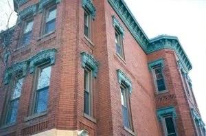 Almond Colored Frames in Brick Historic Home; Washington DC
