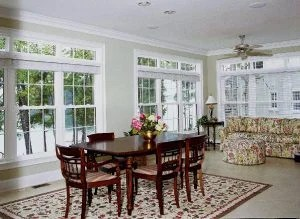 Double Hung Windows w/ Transoms and Colonial Grids in All