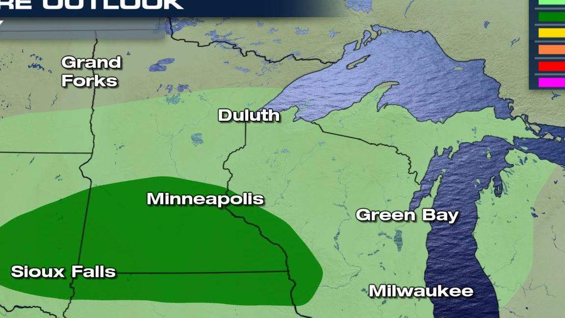 HD Decor Images » Monday s Severe Weather Forecast   WeatherNation A marginal risk of severe weather is possible today over parts of Minnesota   Iowa and Wisconsin  Right now it looks like the highest chance for severe