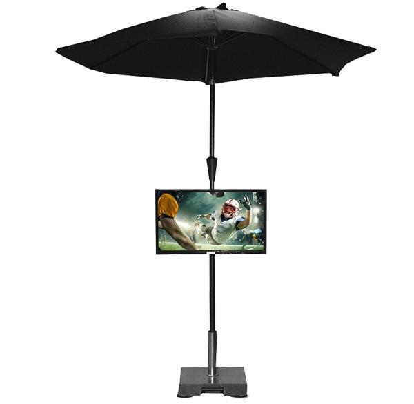 miragevision portable umbrella tv stand