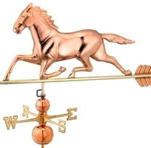 Two Story Home Size Horse Pure Copper Weathervane -0
