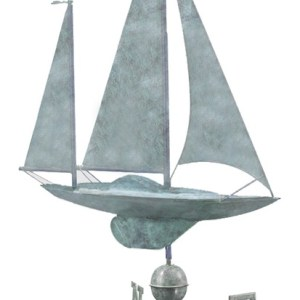 Large Sailboat Weathervane 9907 By Good Directions -0
