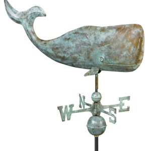 """37"""" Large Whale Pure Copper Handcrafted Weathervane -0"""
