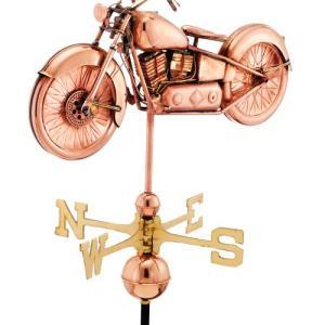 Motorcycle Weathervane 669 - Polished Copper-0
