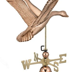 Goose Pure Copper Hand Crafted Weathervane -0