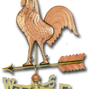 Big Rooster Copper Weathervane-0