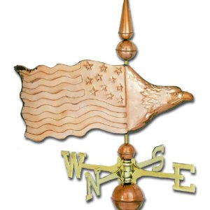Eagle Banner Copper Weathervane-0