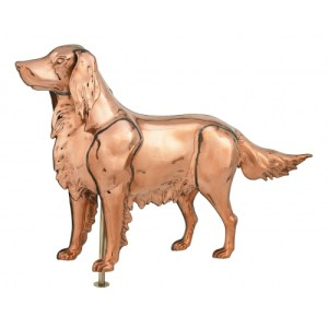 Golden Retriever 3-D Copper Weathervane-0