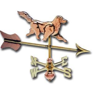 Dog 3-D Cottage Copper Weathervane-0