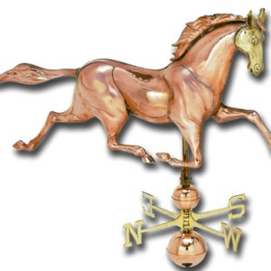 Jumbo Horse 3-D Copper Weathervane-0