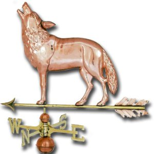 Wolf Copper Weathervane-0