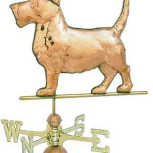 Scottie Dog Copper Weathervane-0