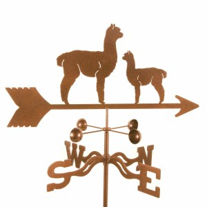 Alpaca and Baby Weathervane-0