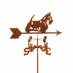 Scottie Dog with Bow Weathervane -0