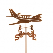 Twin Airplane Private Jet Weathervane-0