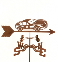 Race Car #9 Weathervane-0